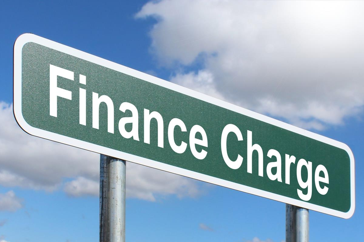 finance charge highway sign image