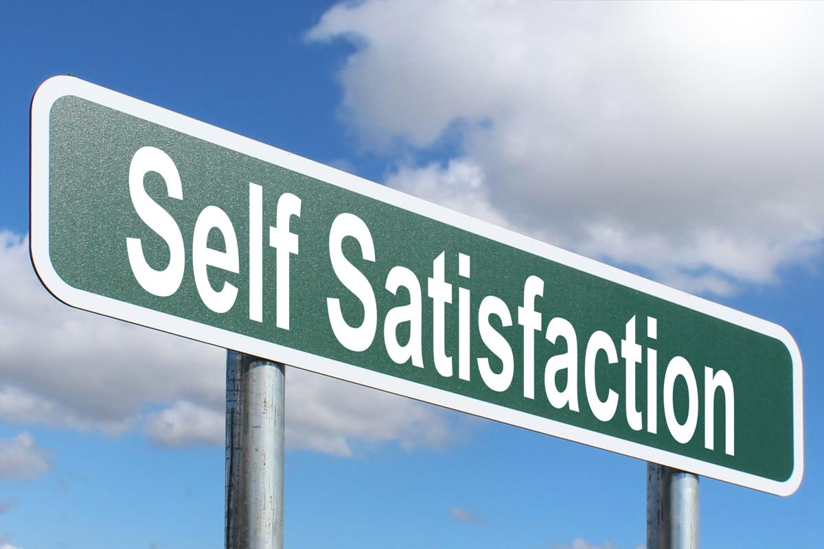 Self Satisfaction - Highway sign image