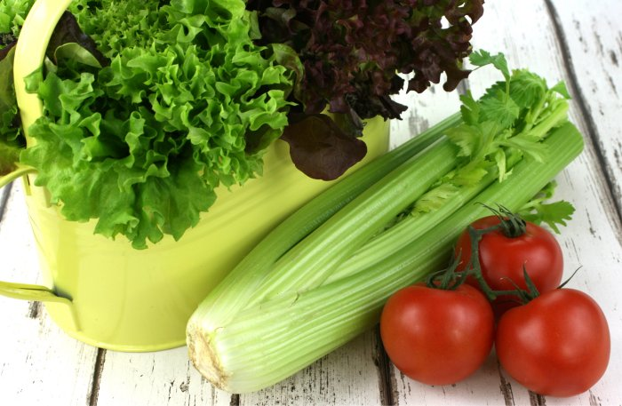 Celery Tomatoes Lettuce