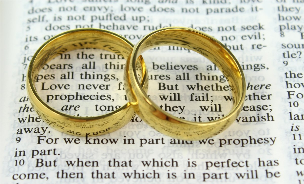 photo wedding stock image rings photos scripture heart over bible shaped shadow casting