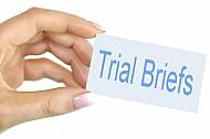 Trial briefs